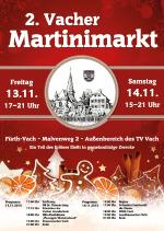 Flyer 2. Vacher Martinimarkt A6 Vorderseite