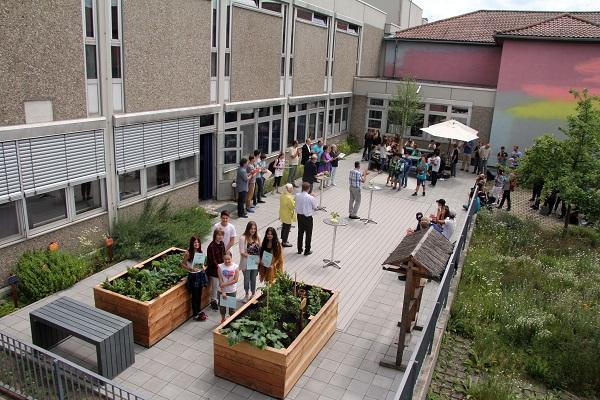 Grünes Klassenzimmer an der Hans-Böckler-Schule