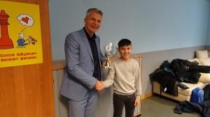 Bester vereinsloser Spieler (insgesamt Platz 6) sowie bester Fünftklässler war Benjamin (R5b)